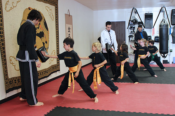 Class in action at 5 Elements Martial Arts San Diego